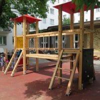 Doppelturmanlage Gudrun für Spielplätze