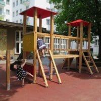 Doppelturmanlage für Kinderspielplätze