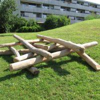 Kletterhaufen geschichtet von FREISPIEL, dem Spielplatzbauer
