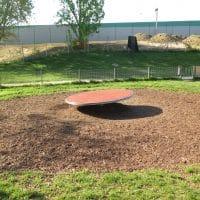 Große Drehscheibe am Kinderspielplatz in 1100 Johanna Benda Park - von FREISPIEL gebaut