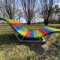 Wellenliege Welcome Rainbow im Kurpark-Oberlaa Seitenansicht