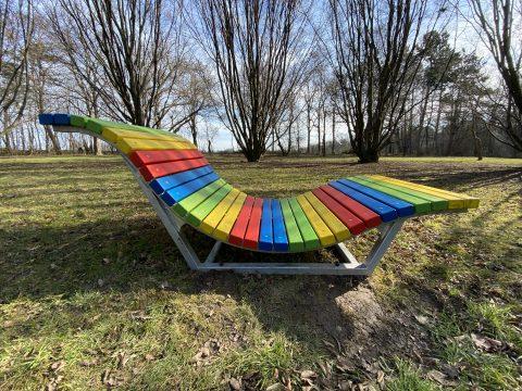 Wellenliege Welcome im Kurpark-Oberlaa Seitenansicht