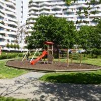 1100 Wien, Ada Christen Gasse: Kinderspielplatz von FREISPIEL errichtet