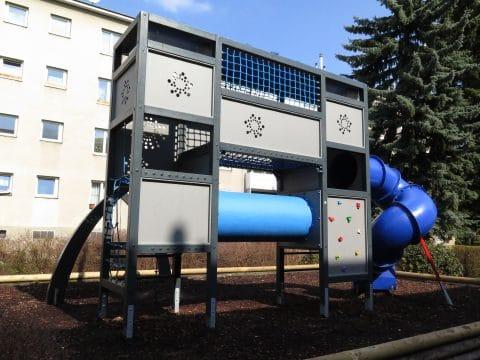 Kinderspielplatz 1100 Wien, Grenzackerstraße 7-11: Robuste Anlage von FREISPIEL