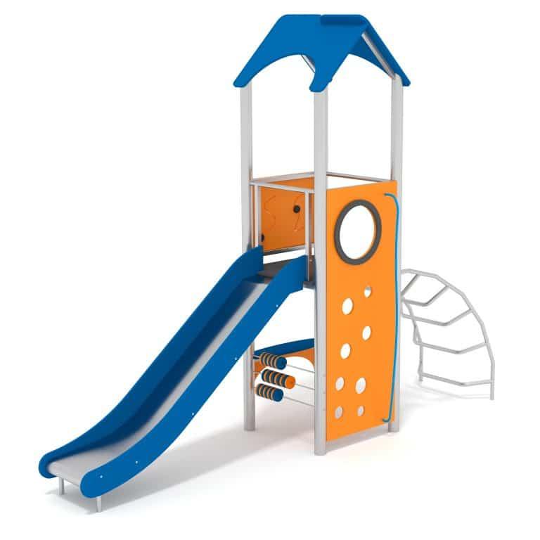 Spielhaus mit Edelstahlrutsche