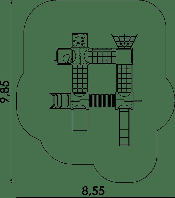 Sicherheitsfreiraum Spielanlage Quattro