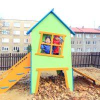 Grünes Mini Spielhaus für Kinder