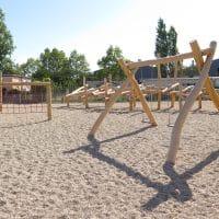 Kinderspielplatz von FREISPIEL, dem Spielplatzbauer, am Satzingerweg, 1210 Strabag