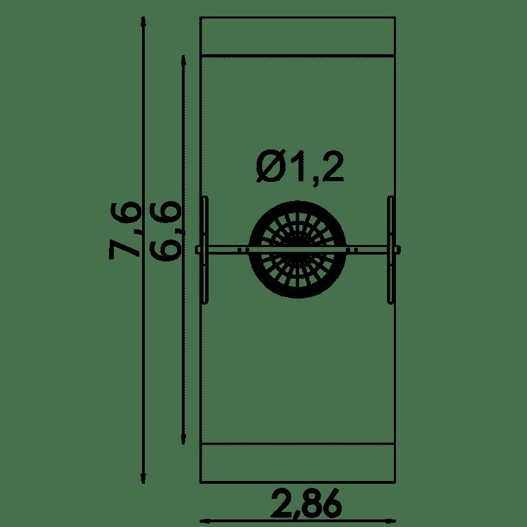 Sicherheitsfreiraum Schaukelnest ø 1,2 m