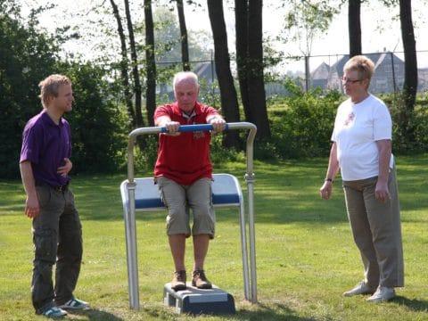 Fitness Runddrücker Edelstahl