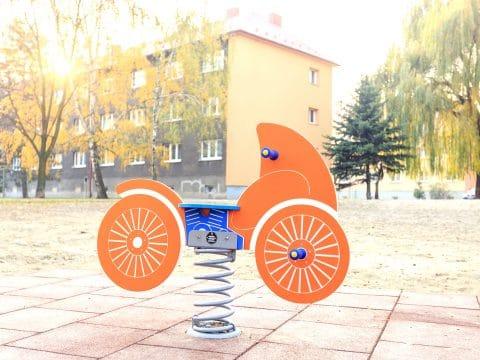 Smile Steel Federwippe Motorrad