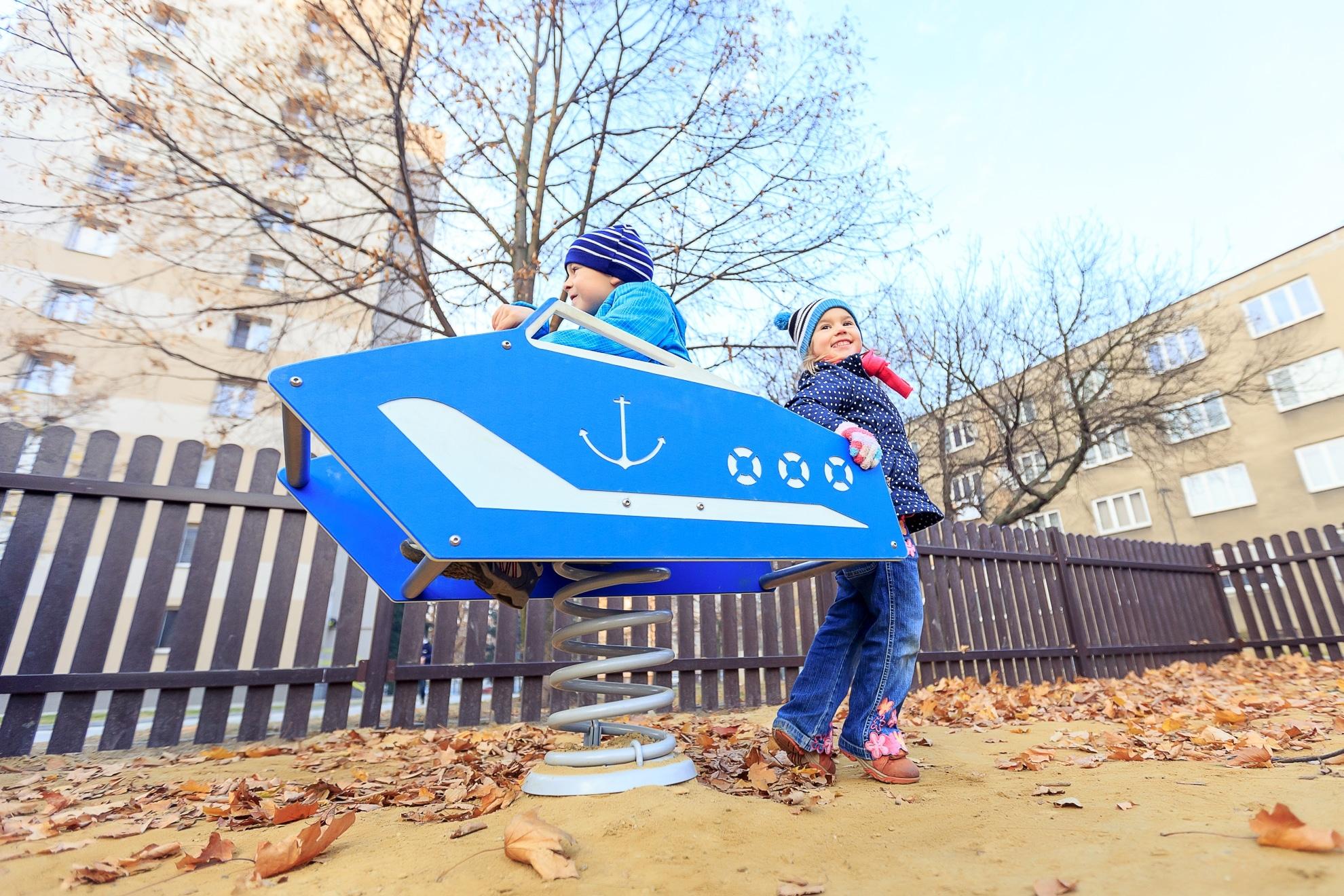 Smile Steel Federwippe Motorboot