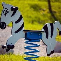Smile Steel Federwippe Zebra