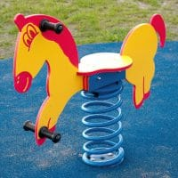 Smile Steel Federwippe Pferd für 1 Kind