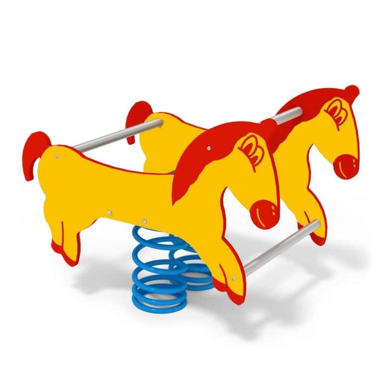 Federwippe Pferd für 2 Kinder