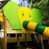 Spieleanlage Elefantenrutsche