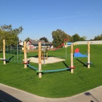 Kinderspielplatz mit Kletterparcour am Schulhof in 2201 Gerasdorf, Schulgasse 6