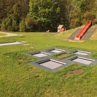 Trampolin-Hüpfwelt am Kinderspielplatz