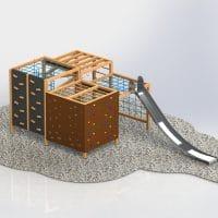 weitere Ansicht 4-Fach Quadratkubus Rutsche