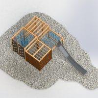 4-Fach Quadratkubus Rutsche von oben