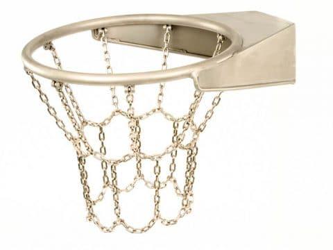 Basketball Korbring mit Kettennetz Edelstahl