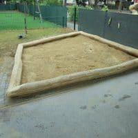 Sandmuldeneinfassung für Spielplätze - von FREISPIEL, dem Spielplatzbauer