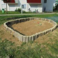 Sandmuldeneinfassung für Sandkasten