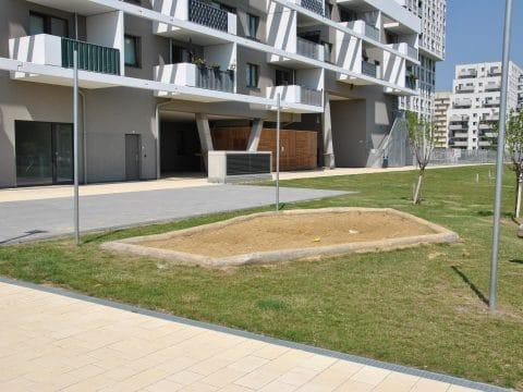 neue Sandmulde von FREISPIEL Muliarplatz 1 / Carlbergergasse 99