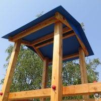 Satteldach für Spielturm