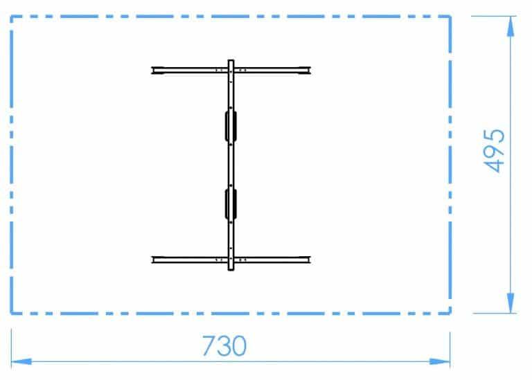 HOPF - SB100 - Doppelschaukel - 2x Brett