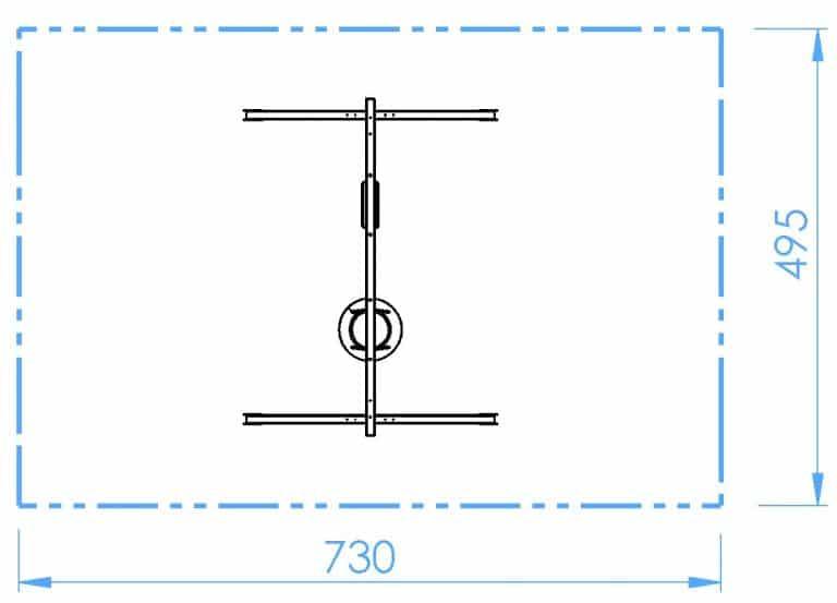 HOPF - SB101 - Doppelschaukel - Brett+Reifen