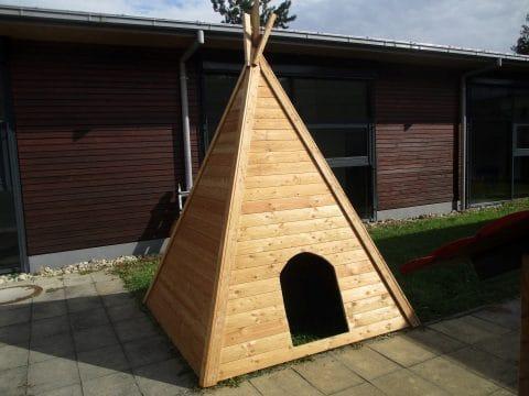 Indianer Tipi aus Holz für Kinder