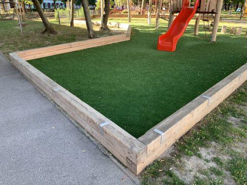 Einfassung neu im Bruno Kreisky Park