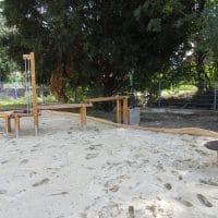 Seitenansicht der Wasserspielanlage von FREISPIEL