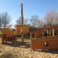 Gestrandetes Spielschiff für Spielplatz von FREISPIEL