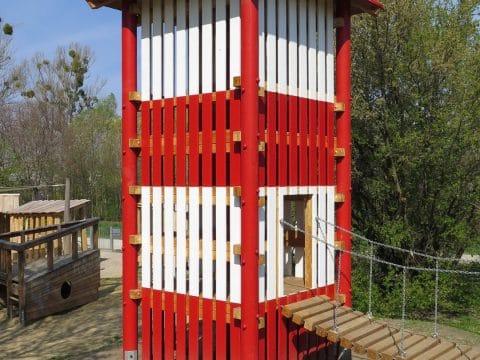 neuer Spielturm in der Georg Prentl Gasse