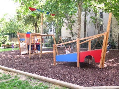 Kinderspielplatz Piratenschiff in der Stumpfergasse - Hubert Marischka Park