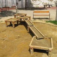 1120 Wien, Vierthalergasse: Sand-Wasserspiel