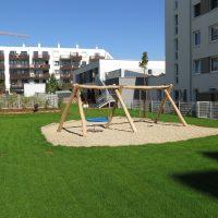 Neue Schaukelkombination von FREISPIEL Kindergarten Malzstraße