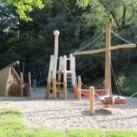 Tropeninsel Kinderspielplatz von FREISPIEL in 1230 Wien, Auer-Welsbach Straße