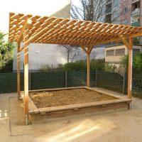 Holzpergola Schattenanlage Smile Basic von FREISPIEL, dem Spielplatzbauer aus Wien und Umgebung, kaufen