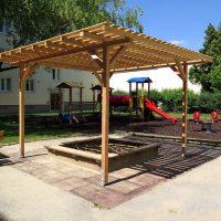 Holzpergola Schattenanlage Smile Basic von FREISPIEL, dem Spielplatzbauer, kaufen