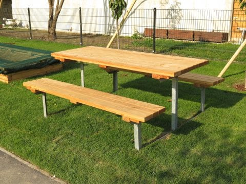 Tischbankkombi Metall ohne Lehne Erwachsene