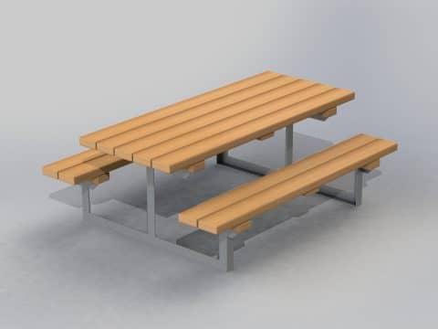 Tischbankkombi Metall ohne Lehne Kinder