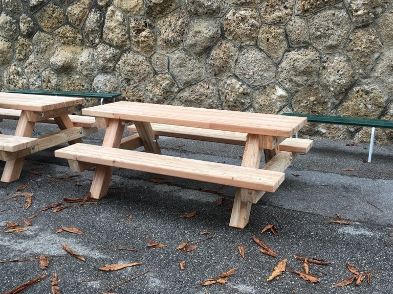 Tisch-Bank-Kombination ohne Lehne Kinder