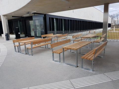 Tischbankkombi Optica mit Lehne Erwachsene