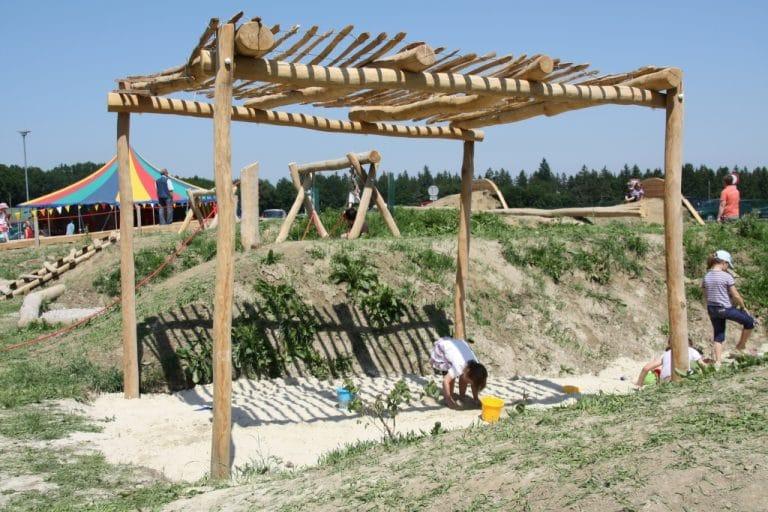 Holzpergola Schattenanlage 3x3m