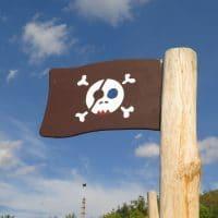 Piratennest für einen Kinderspielplatz von FREISPIEL - Flagge