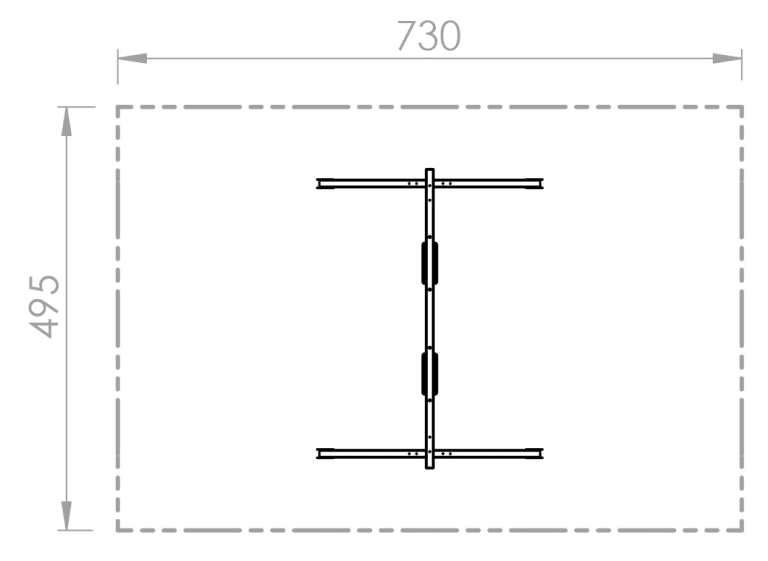 Doppelschaukel (2xBrett) - Skizze