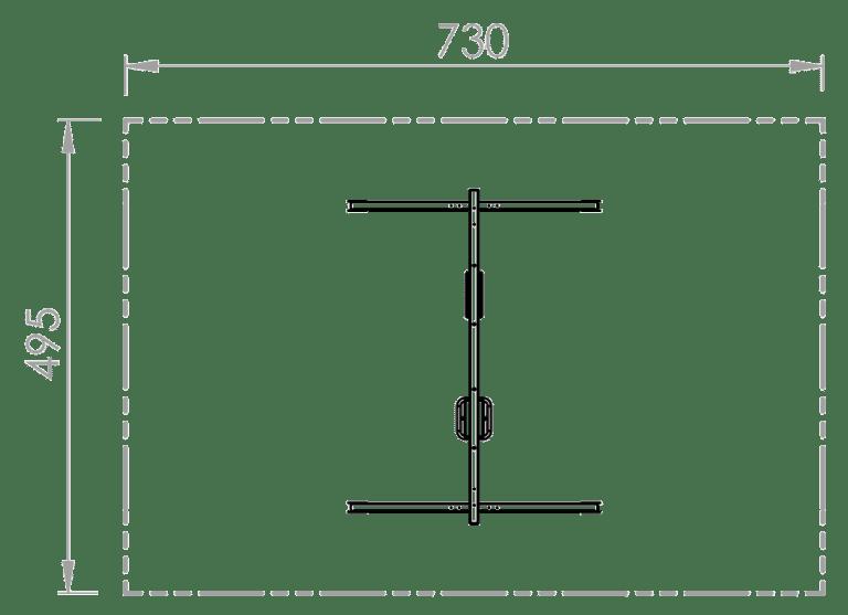 Doppelschaukel (Brett,Kleinkind) - Skizze